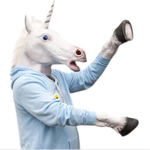 Mặt nạ ngựa 1 sừng - 12469555 , 20736706 , 15_20736706 , 410000 , Mat-na-ngua-1-sung-15_20736706 , sendo.vn , Mặt nạ ngựa 1 sừng