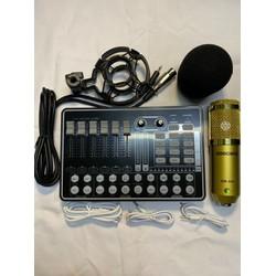 Combo livestream sound card k9 bletooth mic thu âm bm 900 thế hệ mới.đủ dây live