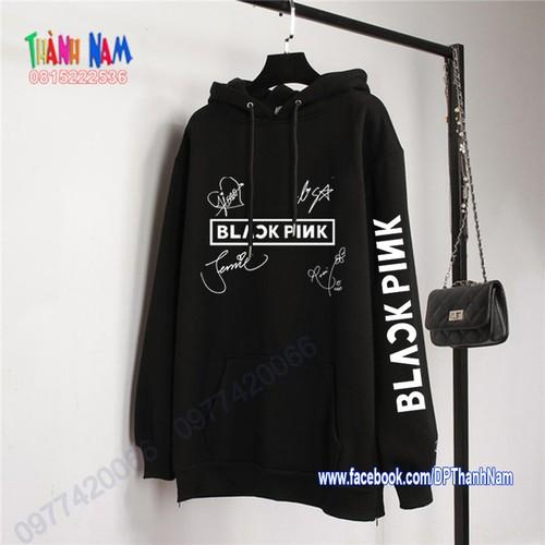 Áo hoodie nhóm nhạc blackpink, áo thu đông blackpink