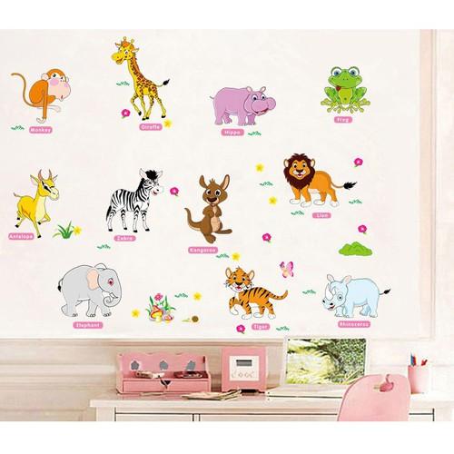 Decal dán tường các con vật