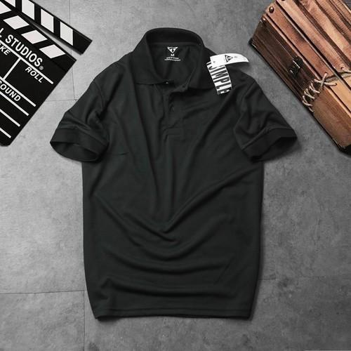 Áo thun nam cổ trụ t-simple đen