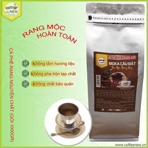 Moka cầu đất - gói 1000gr - cà phê rang mộc nguyên chất  dạng hạt - pha máy hoặc pha phin - mùi trái cây chín, nước nhạt vị chua thanh, thể chất nhẹ - coffee new - 12797623 , 20721144 , 15_20721144 , 350000 , Moka-cau-dat-goi-1000gr-ca-phe-rang-moc-nguyen-chat-dang-hat-pha-may-hoac-pha-phin-mui-trai-cay-chin-nuoc-nhat-vi-chua-thanh-the-chat-nhe-coffee-new-15_20721144 , sendo.vn , Moka cầu đất - gói 1000gr - cà
