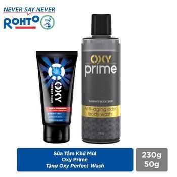 Sữa Tắm Khử Mùi Oxy Prime 230g + Tặng Oxy Perfect Wash 50 g