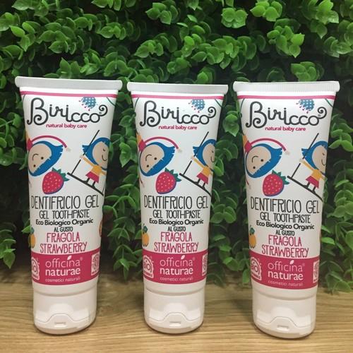 Kem đánh răng hữu cơ biricco cho trẻ em vị dâu