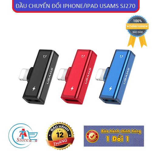 Đầu chuyển đổi otg iphone usams sj270 4 in 1 chính hãng