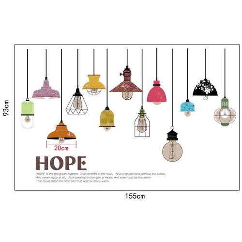 Decal dán tường những ngọn đèn
