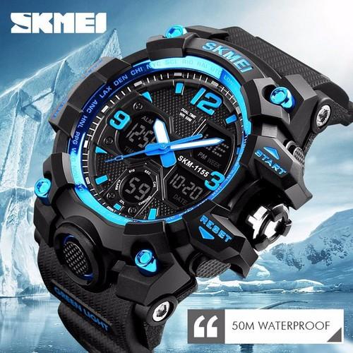 [Chính hãng- ca kết rẻ] đồng hồ nam chính hãng skmei kiểu dáng thể thao sang trọng- chống nước tốt
