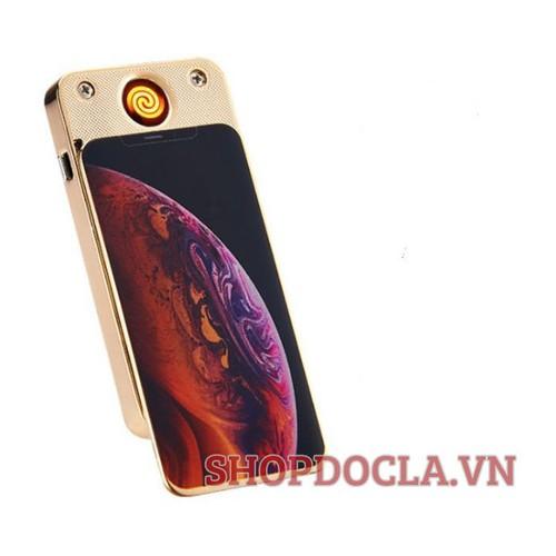 Bật-Lửa sạc điện hồng ngoại iphone xs đời mới , bật-lửa hồng ngoại , bật-lửa sạc pin , bật-lửa hình iphone tặng kèm hộp