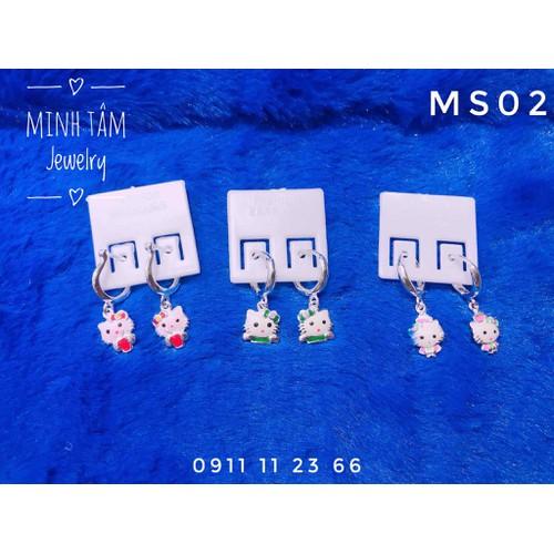 Bông tai bạc mèo kitty cho bé gái-minh tâm jewelry - 12830839 , 20765078 , 15_20765078 , 115000 , Bong-tai-bac-meo-kitty-cho-be-gai-minh-tam-jewelry-15_20765078 , sendo.vn , Bông tai bạc mèo kitty cho bé gái-minh tâm jewelry
