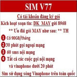 Sim 3G 4G Vinaphone - Sim Itelecom Vina - Sim Telecom 3G 4G GÓI CƯỚC MAY - SÀI MAY MẮN may v77 thumbnail