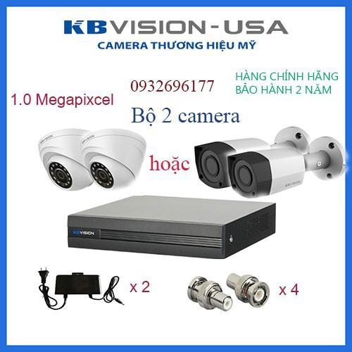 Bộ 2 camera kbvision 1.0 megapixcel