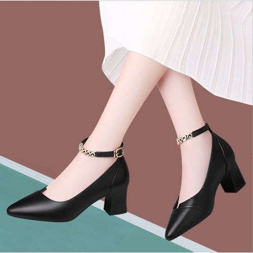 G9354 - giày bít mũi gót vuông cao 5cm hàng nhập - 12822954 , 20755072 , 15_20755072 , 950000 , G9354-giay-bit-mui-got-vuong-cao-5cm-hang-nhap-15_20755072 , sendo.vn , G9354 - giày bít mũi gót vuông cao 5cm hàng nhập