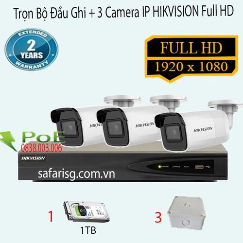 Trọn Bộ 3 Camera IP Thân HIKVISION DS-2CD2021G1-I - 11853115 , 20765325 , 15_20765325 , 15690000 , Tron-Bo-3-Camera-IP-Than-HIKVISION-DS-2CD2021G1-I-15_20765325 , sendo.vn , Trọn Bộ 3 Camera IP Thân HIKVISION DS-2CD2021G1-I