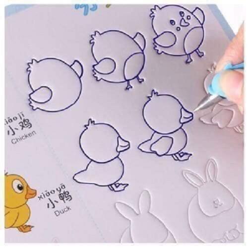 Bộ 3 vở tập viết tặng 6 ngòi,3 bút cho bé mới đầu tập tô chữ