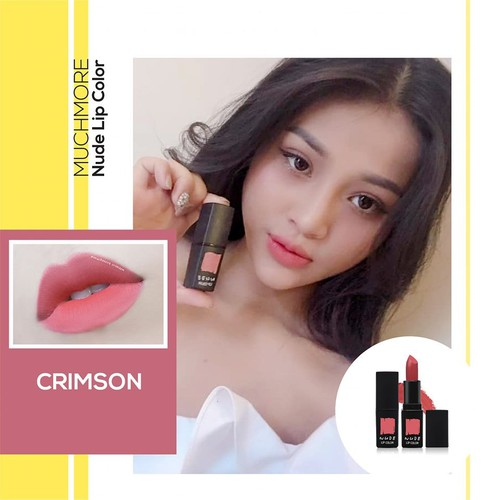 Son thỏi lì MUCHMORE NUDE LIP COLOR NL11: Crimson 3.5g - Son lì MUCHMORE  Crimson