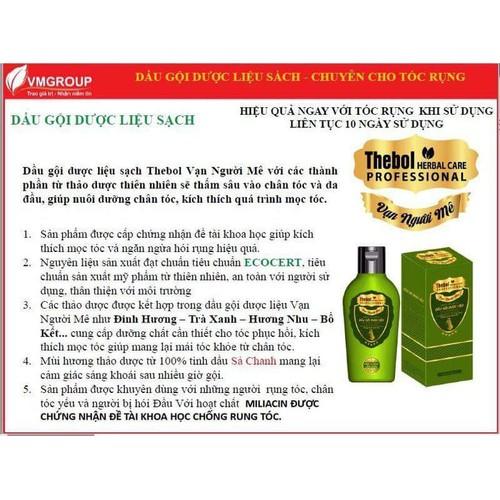 3 chai dầu gội dược liệu thebol, vạn người mê