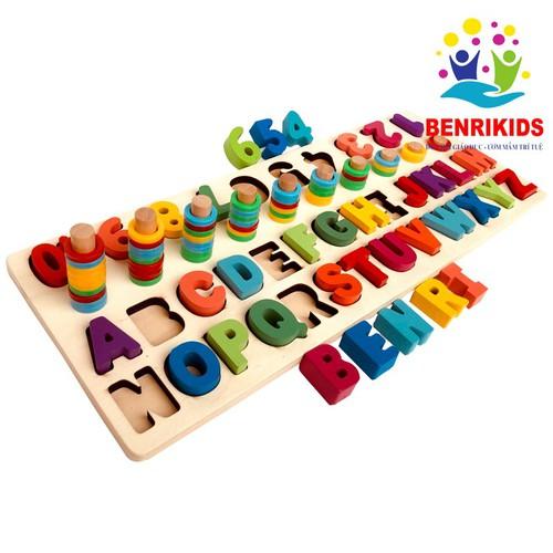 Đồ chơi học toán học chữ bằng gỗ giúp bé phát triển trí tuệ
