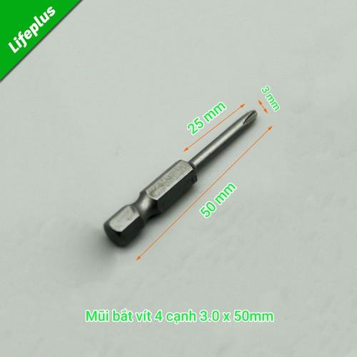 Đầu bắt vít 4 cạnh 3.0x50mm