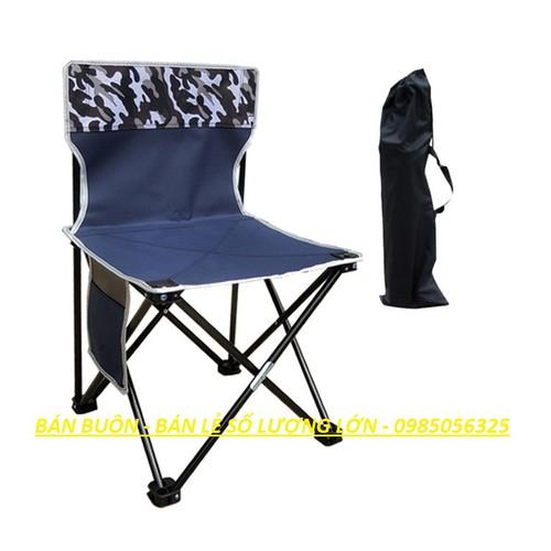 Ghế gấp cho quán cafe, ghế dã ngoại, ghế đi câu - có túi đựng ghế