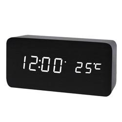 TẶNG dây cáp +củ sạc - Đồng Hồ Để bàn GỖ Điện Tử LED - ĐỦ MÀU - Đồng hồ trang trí