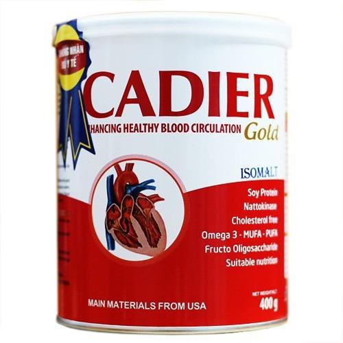 Sữa cadier gold cho tiểu đường, tim mạch