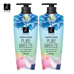 Bộ dầu gội và kem xả mượt tóc Elastine Pure Breeze 600ml.....