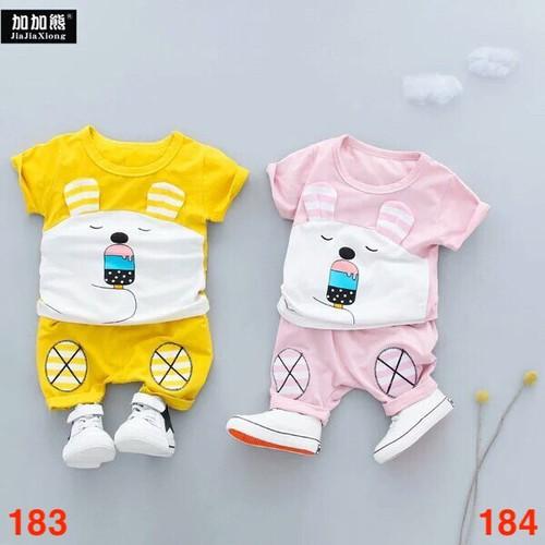 Bộ quần áo mẫu ngộ nghĩnh chất cotton cho bé từ 5 đến 19kg - mẫu 183,184