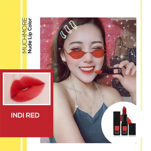 Son thỏi lì MUCHMORE NUDE LIP COLOR NL04: Indi Red 3.5g - Son thỏi lì  MUCHMORE Indi Red