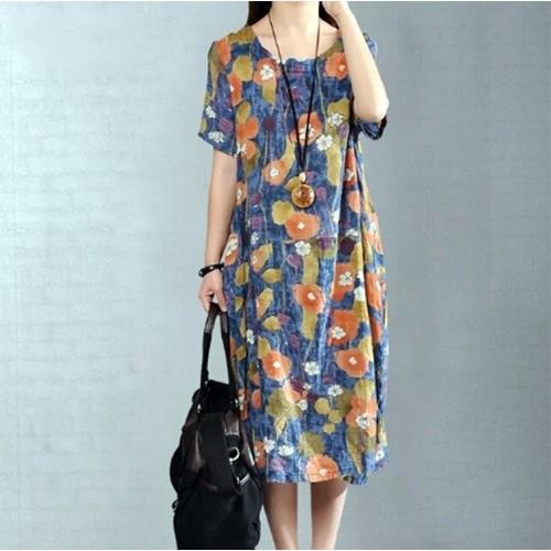 Váy suông cotton linen