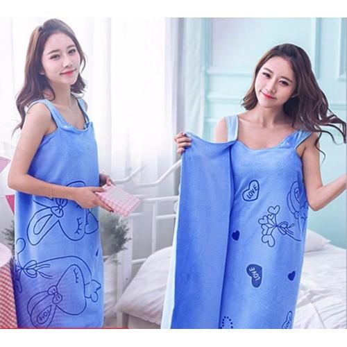 Bộ 2 khăn tắm đa năng 2 in 1 mặc thành váy đầm - hàng loại 1 dày đẹp viền may chắc chắn