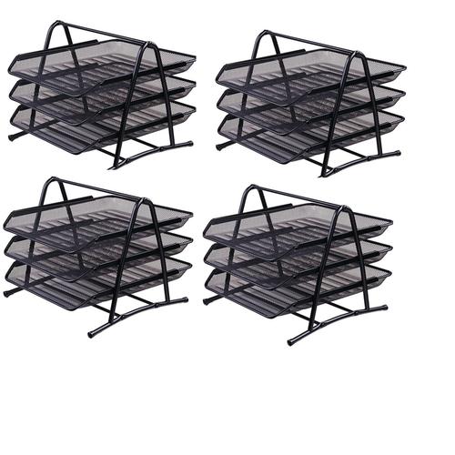 Khay 3 tầng sắt deli 9181