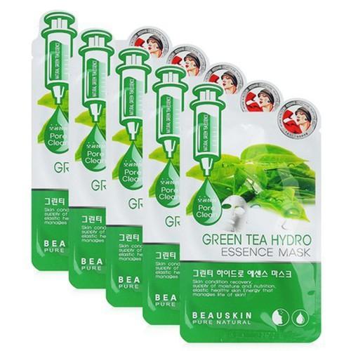 Bộ 5 miếng mặt nạ dưỡng da green tea hydro essence mask 20ml