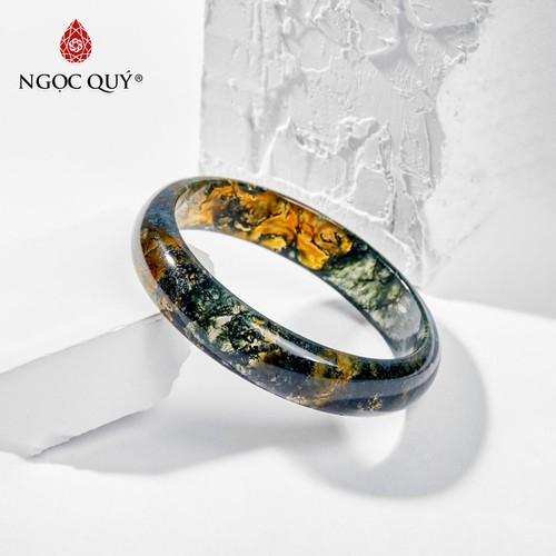 Vòng tay đá băng ngọc thủy tảo huyết 55mm - ngọc quý gemstones