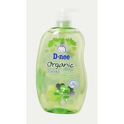 Sữa Tắm gội toàn thân em bé D-Nee Organic Xanh lá 200ml