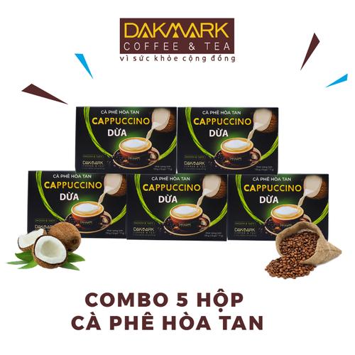 Combo 5 cà phê camppuccino hòa tan dừa dakmark- 5 hộp hòa tan dừa thơm ngon - 12846198 , 20786445 , 15_20786445 , 209000 , Combo-5-ca-phe-camppuccino-hoa-tan-dua-dakmark-5-hop-hoa-tan-dua-thom-ngon-15_20786445 , sendo.vn , Combo 5 cà phê camppuccino hòa tan dừa dakmark- 5 hộp hòa tan dừa thơm ngon