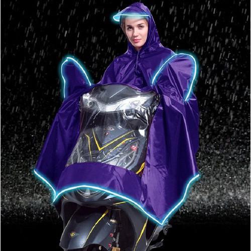 Áo mưa đi xe có túi trùm gương