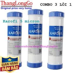 Combo 3 lõi lọc nước số 1 karofi chính hãng - Lõi lọc nước ro Karofi