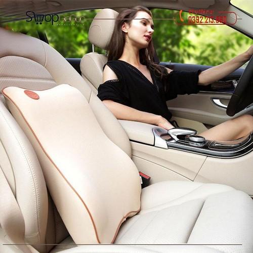 Đệm tựa lưng bằng cao su non dùng trên xe hơi lucky bobi
