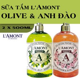 Combo 2 chai Sữa Tắm LAmont En Provence Hương Hoa Anh Đào và Hương Olive  - CHERRY + OLIU