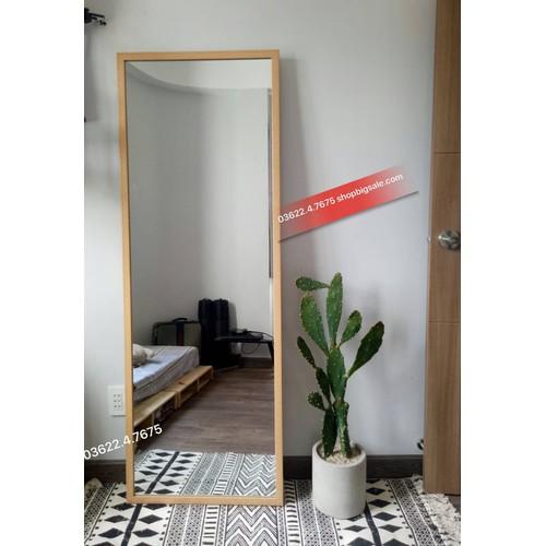 Gương soi toàn thân bọc gỗ
