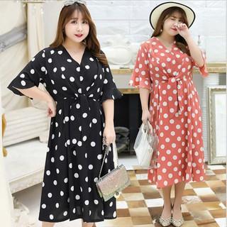 Đầm suông họa tiêt chấm bi Bigsize cao cấp - BIG8 thumbnail