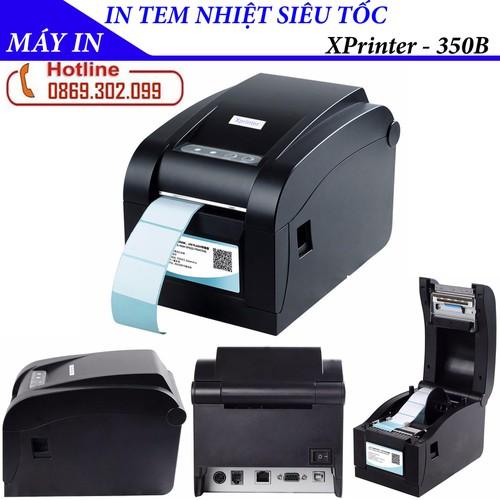 Máy in nhiệt - xprinter xp 350b máy in mã vạch - in tem nhãn - máy in tem mã vạch xprinter xp-350b cổng usb - in code hàng loạt