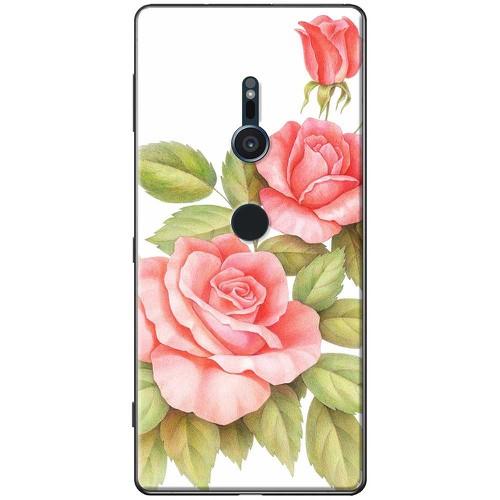 Ốp lưng nhựa dẻo sony xz2 hoa hồng