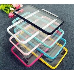 ốp lưng iphone trong suốt viền màu ốp iphone 6 6s 7 8 plus x xs xr xs max