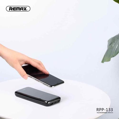Pin sạc dự phòng remax không dây 133 mặt kính 10.000mah có đèn led siêu gọn đẹp chính hãng