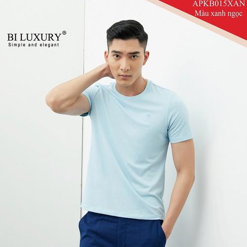 Áo phông nam cổ tròn biluxury màu xanh ngọc