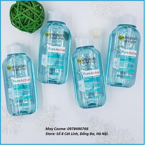 Nước tẩy trang dành cho da dầu mụn garnier skin naturals 400ml