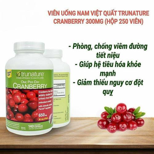 Viên uống hỗ trợ đường tiết niệu trunature cranberry 650mg - 12844511 , 20784389 , 15_20784389 , 530000 , Vien-uong-ho-tro-duong-tiet-nieu-trunature-cranberry-650mg-15_20784389 , sendo.vn , Viên uống hỗ trợ đường tiết niệu trunature cranberry 650mg
