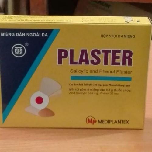 Plaster - miếng dán mụn cơm mắt cá vết chai 1 gói 4 miếng