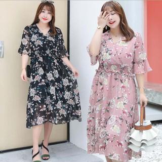 Đầm voan hoa dáng dài Bigsize cao cấp - BIG5 thumbnail